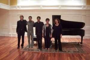 """Gala concert at """"The Rivers School Conservatory"""", MA (USA) With Gila Goldstein (American Liszt Society-New York, President) Tish A. Kilgore (American Liszt Society-Boston, President) and pianists Zura Kobakhside and Leon Bensdorf"""